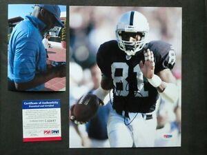 Tim Brown Hot! signed Oakland Raiders 8x10 photo PSA/DNA cert PROOF!!