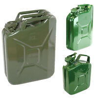 5L NEW METAL JERRY TANK CAN SPOUT WATER DIESEL PETROL OIL STORAGE ARMY GREEN