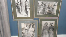 Three prints African villagers and similar photograph Bolivar Gallery *