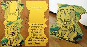 'Larry The Lion' `1948 Car/Automobile Safety Stand-Up Sign - Harrisburg, PA