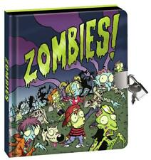 Lockable Peaceable Kingdom Zombies Lock & Key Secret Diary + Silver Pen 6 Yrs +