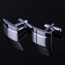 MEN'S SILVER CUFFLINKS GOLD STAINLESS STEEL MENS WEDDING CUFF LINKS