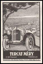 Publicité Automobile TURCAT MERY car vintage  ad  1922 - 10j