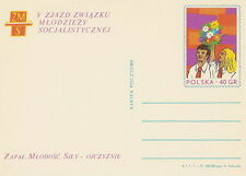 Poland prepaid postcard (Cp 545) socialist young people