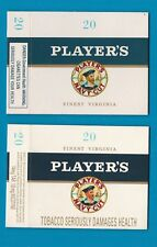 2 different Old EMPTY cigarette packets + early health warnings see scans * #800