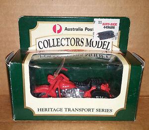 MATCHBOX 1:64 scale Australian Post No 8 PMG Motorbike Heritage Transport Series