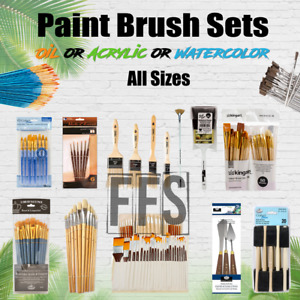 Art Paint Brushes Sets Oil Acrylic Watercolor Canvas Painting brush lot PACKS