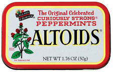 12 x Tins Altoids Curiously Strong Mints Peppermints in Original Tin New Sealed