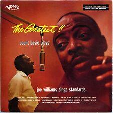 COUNT BASIE THE GREATEST! COUNT BASIE PLAYS JOE WILLIAMS SINGS STANDARDS 1956 LP