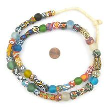 House Medley Krobo Beads 12mm Ghana African Multicolor Mixed Glass Large Hole