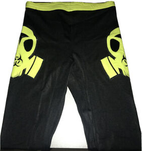 eLucha XL Neon Green Hazmat Wrestling Tights