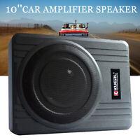 "10"" 600W Powered Car Under-Seat Subwoofer Amplifier Audio Super Bass Speaker New"
