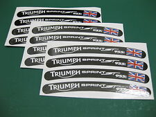 12 Triumph Sprint ST 955i Wheel Rim Stickers with the Union Flag