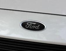 2013-2019 Ford Fusion Logo Emblem Insert Overlay Decal Set (Glossy Black)