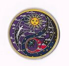 SUN MOON YING YANG IRON ON / SEW ON PATCH Embroidered Badge PT145 PEACE LOVE