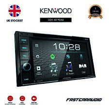 """KENWOOD DDX-4019DAB 6.2"""" TOUCHSCREEN DVD MP3 USB DAB BLUETOOTH DOUBLE DIN PLAYER"""