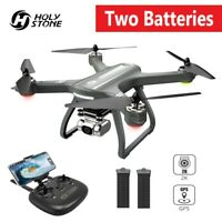 Holy Stone HS700D Selfie GPS RC Drone with 2K Camera FPV Quadcopter +2 Batteries