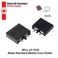 2pcs JH-7032 30A Blade Standard Middle Fuse Holder #2266