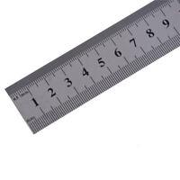 Règle droite en acier inoxydable à double échelle de 50 cm, mesurant ausBB