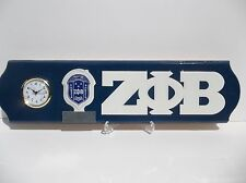 ZETA PHI BETA CLOCK  WITH STAND AND FREE BATTERY