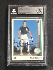 MARK McGWIRE 1989 UPPER DECK SIGNED AUTOGRAPHED CARD #300 BECKETT BAS AUTHENTIC