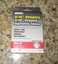 "SUREBONDER 1100 pieces #55916 Heavy Duty Staples 9/16"". Open Box."