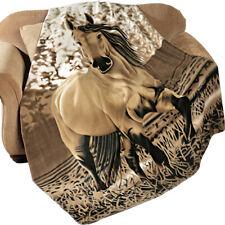 Western Horse Fleece Throw Blanket