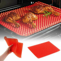 Nonstick Silicone Pyramid Pan Baking Mat Mould Cooking Liner Healthy Oven E1D1