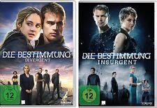 2 DVDs * DIE BESTIMMUNG TEIL 1+2 ( DIVERGENT / INSURGENT ) IM SET # NEU OVP $