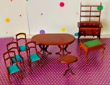 Vintage Frank's Nursery & Crafts Dollhouse Miniature Furniture 9 Piece Lot