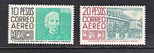 MEX 1950-76  10&20 PESOS  FROM THE A&A SERIES SC#267-68 CV$25+  (a1675)