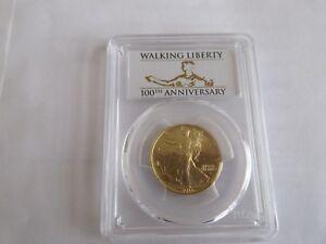 2016-W US Gold Walking Liberty Half (1/2 oz) 50c - PCGS SP70 First Strike