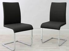 Cantilever Chair - Black Faux Leather - Bargain Sale!!!