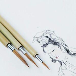 Chinese Calligraphy Painting Writing Lline Brush Set Weasel Hair Hook Line Pen