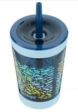 New! Contigo Spill Proof Kids Tumbler with Straw 14oz Nautical Fish Easy Clean