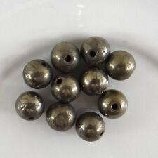 10 perles de gemme de 6 mm en pyrite grade A, pierre naturelle-vtp145