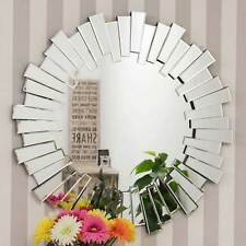 Large Modern Design Round Sophisticated Sunburst Venetain Wall Mirror 3Ft 90cm