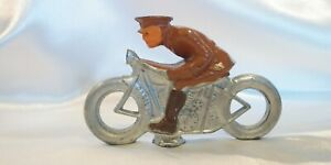 VINTAGE BARCLAY MILITARY  MOTORCYCLE TOY MANOIL HARLEY INDIAN OP
