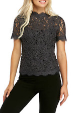 NWT ANNE KLEIN GRAY LACE CAREER TOP BLOUSE SIZE XL $119