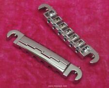 Lightning Bolt Wraparound Bridge - UN-AGED CHROME Vintage Gibson SG Jr MojoAxe