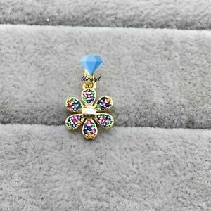 Original S925 Sterling Silver, Silver Flower Bloom Pendant, Charm , Blingget