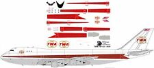 TWA delivery livery Boeing 747-100 decals for Revell 1/144 kit