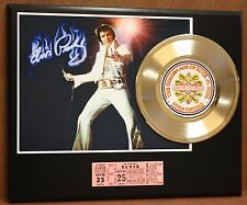ELVIS PRESLEY CONCERT TICKET SERIES GOLD RECORD LIMITED EDITION DISPLAY
