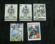 Lot of 5 Randy Moss Raiders & Patriots Football Trading Cards 2006-2008