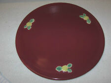 """COORS POTTERY  """"ROSEBUD""""  CAKE PLATE, ROSE COLOR"""