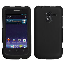 For ZTE Avid 4G N9120 Rubberized HARD Case Snap On Phone Cover Black accessory