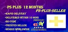 12 MONTH PS PLUS PSN PLUS - 1 YEAR OF PLUS ( NO CODE - TRUSTED SELLER - RAPID )