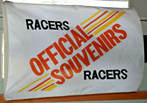 "Auto Racing/Drag Racing Souvenir Flag/Banner Measures 35 in. X 53"" in."