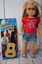 """Cool Guitar - Perfect Size for American Girl, Kidz N Cats and Other 18"""" Dolls"""