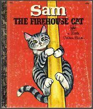 Vintage Children's Little Golden Book ~ SAM THE FIREHOUSE CAT